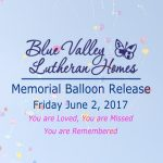 Blue Valley Lutheran Homes Balloon Release 2017