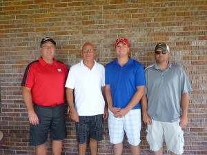 2nd Flight Winner Crop Production Services Team Members from Left to Right: Doug Holtzen, Kent Werner, Troy Kane, Dustin Drohman